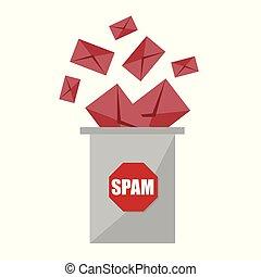No spam. Stop spam graphic design - creative concept....