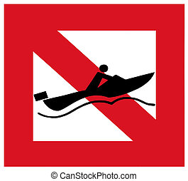 No speedboats - No speedboat driving in this area sign