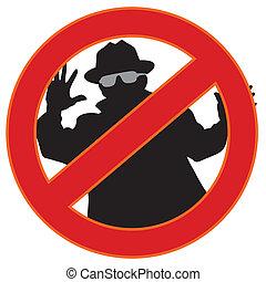 no spyware symbol - Illustration of no spy-ware symbol