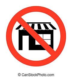 No Store sign illustration.
