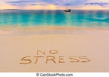 No stress - a nice view of nungwi beach in Zanzibar island, ...