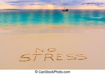 No stress - a nice view of nungwi beach in Zanzibar...