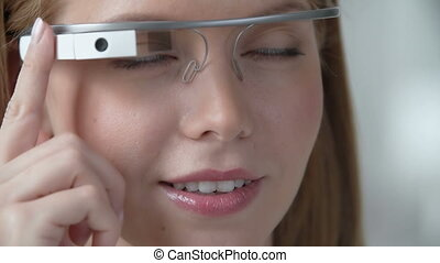 No Stress Technology - Macro shot of female smiley face...