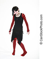 No Strings Attached - Gothic, raggedy ann style puppet...