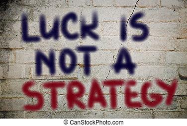 no, suerte, concepto, estrategia