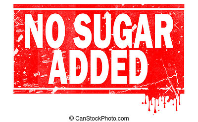 No sugar added in red frame