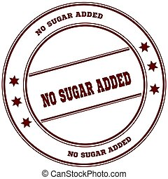 NO SUGAR ADDED simple red stamp