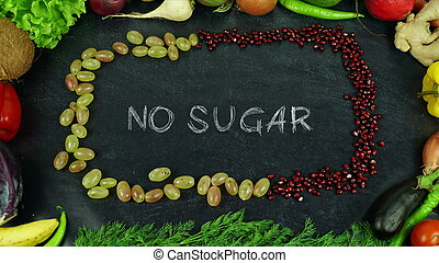 No sugar fruit stop motion