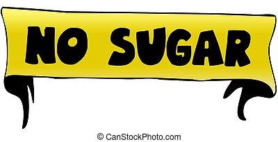 NO SUGAR on yellow ribbon illustration