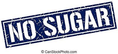 no sugar square grunge stamp