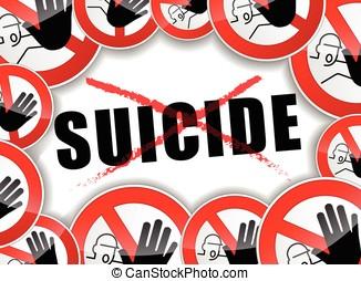 no, suicidio, concepto abstracto