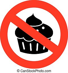 No sweets diet sign