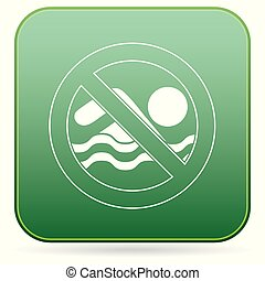 No swimming prohibition sign icon
