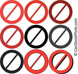 No symbol isolated on white background. Vector illustration