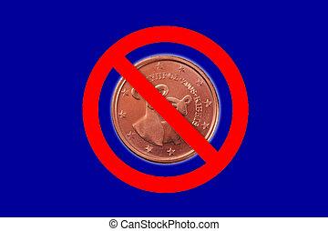 no symbol - A no symbol with a Euro coin