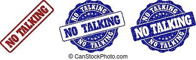 NO TALKING Grunge Stamp Seals