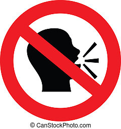 no talking sign - a sign showing no talking or chat is...