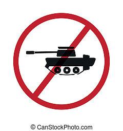 No tanks symbol