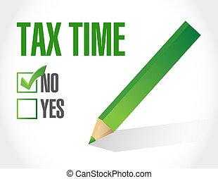 no tax time sign illustration design