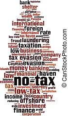 No tax word cloud