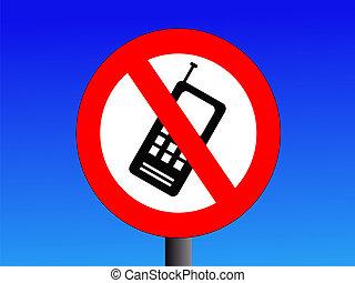 no, teléfonos móviles, señal