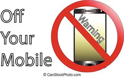 no, telefono cellulare, segno