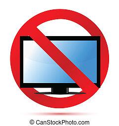 No television sign illustration