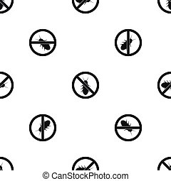 No termite sign pattern seamless black