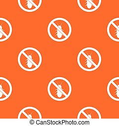 No termite sign pattern seamless