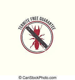 NO TERMITES sign. Insecticide symbol. Rubber stamp Vector ...