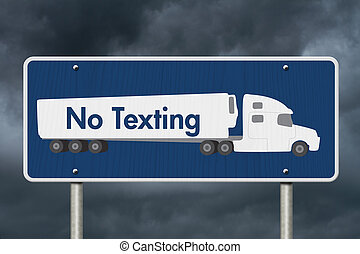 No Texting Road Sign