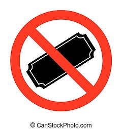 No Ticket sign illustration.