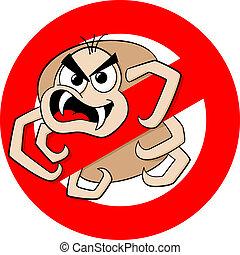 no ticks warning sign