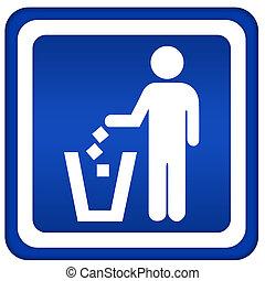 no, tirar basura