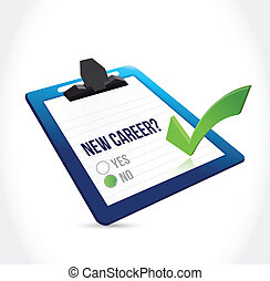 no to a new career check mark