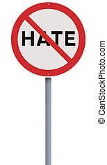 No to Hate  - A road sign against Hate