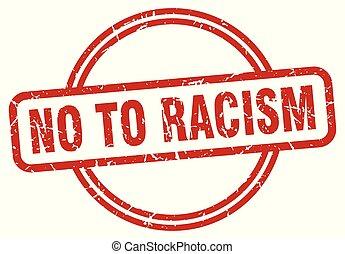 no to racism grunge stamp