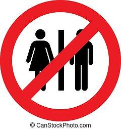 No toilets sign