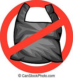 no trash sign
