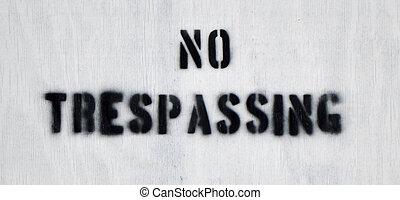 No Trespassing 2
