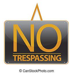 no trespassing sign illustration
