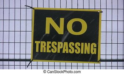 No Trespassing Sign. - %u2018No Trespassing%u2019 sign warns...