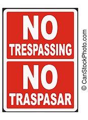 No Trespassing Sign Vector illustration EPS10
