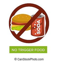 No trigger food healthcare and proper nutrition