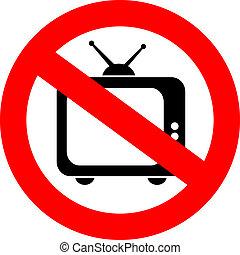 no, tv, segno
