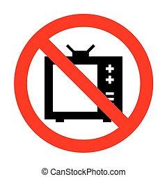 No TV sign illustration.