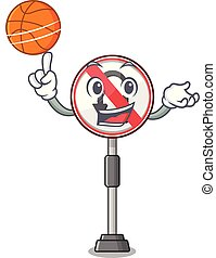 No U Turn 4 - With basketball no u turn with a cartoon...