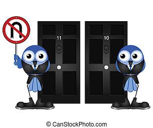 no U turn policy - Representation of no U turn policy with...