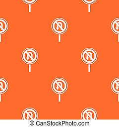 No U turn road sign pattern seamless - No U turn road sign...