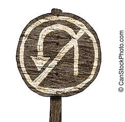 No U-Turn Sign (Isolated)